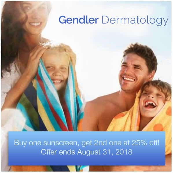 Gendler Dermatology Sunscreen Ad